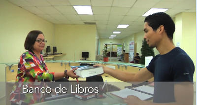 banco de libros en biblioteca