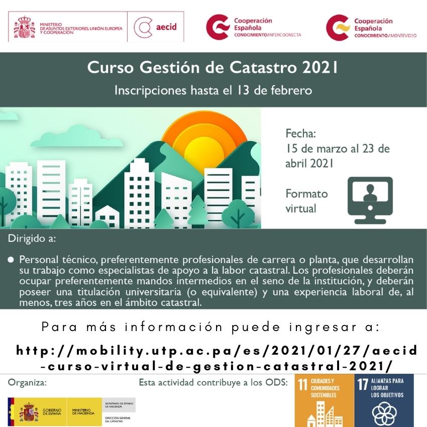 Curso de Gestión Catastro 2021