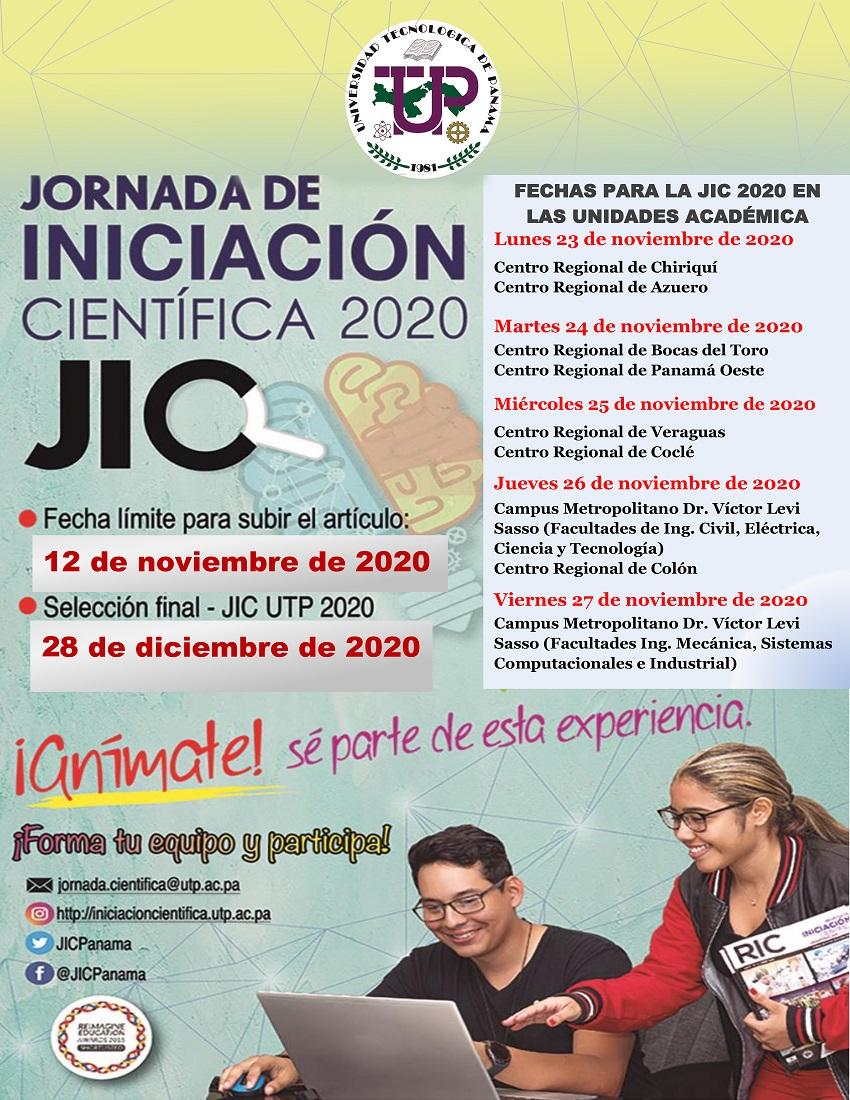 Afiche Jornada de Iniciación Científica UTP 2020