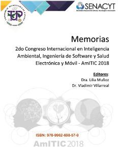 Memoria segundo Cogreso Internacional en Inteligenicia Ambiental, Ingeniería de Software y Salud