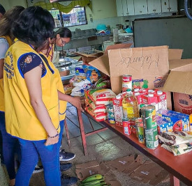 Organización de entrega de alimentos