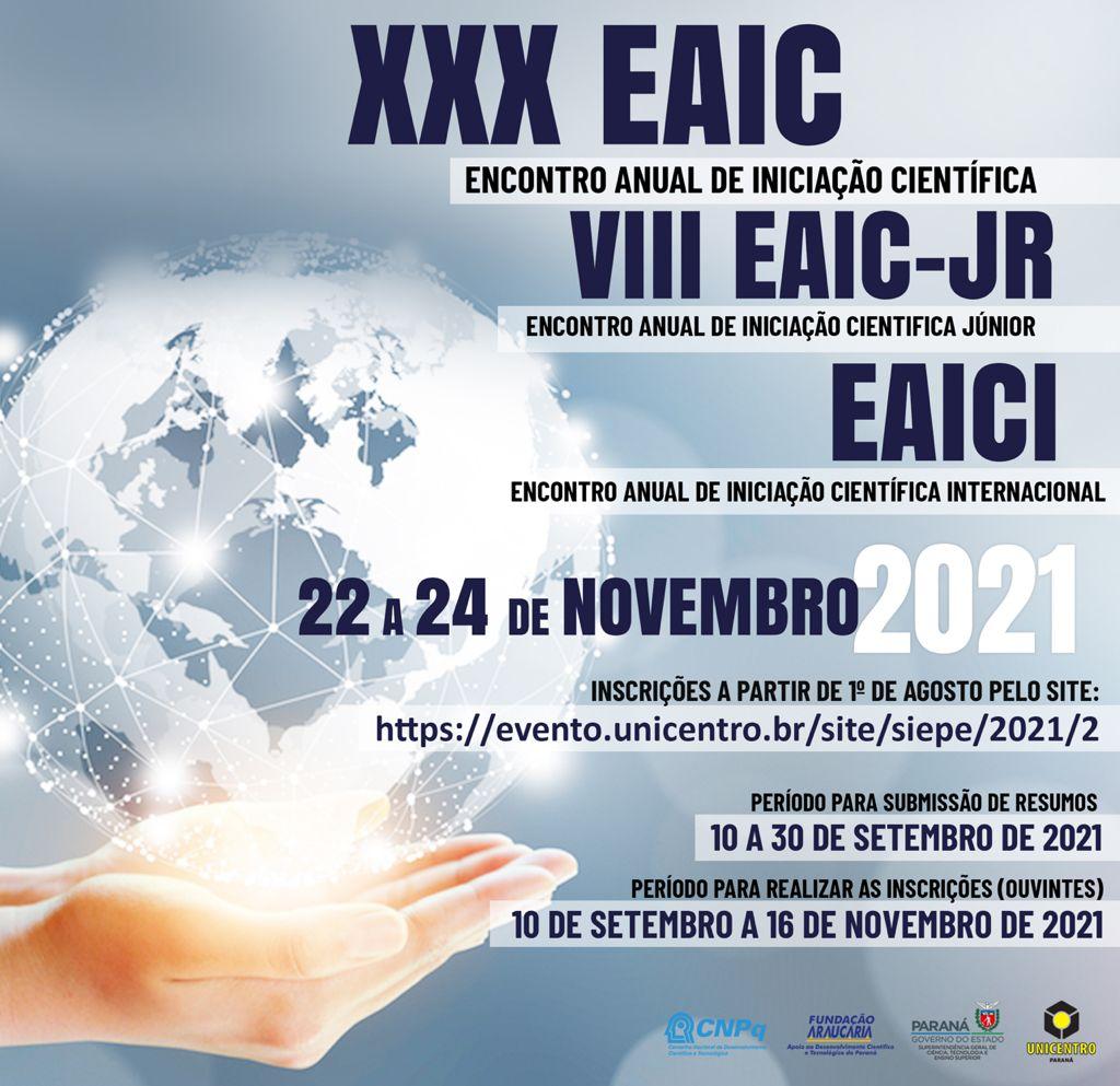 Afiche de Jornada EAIC Brasil 2021