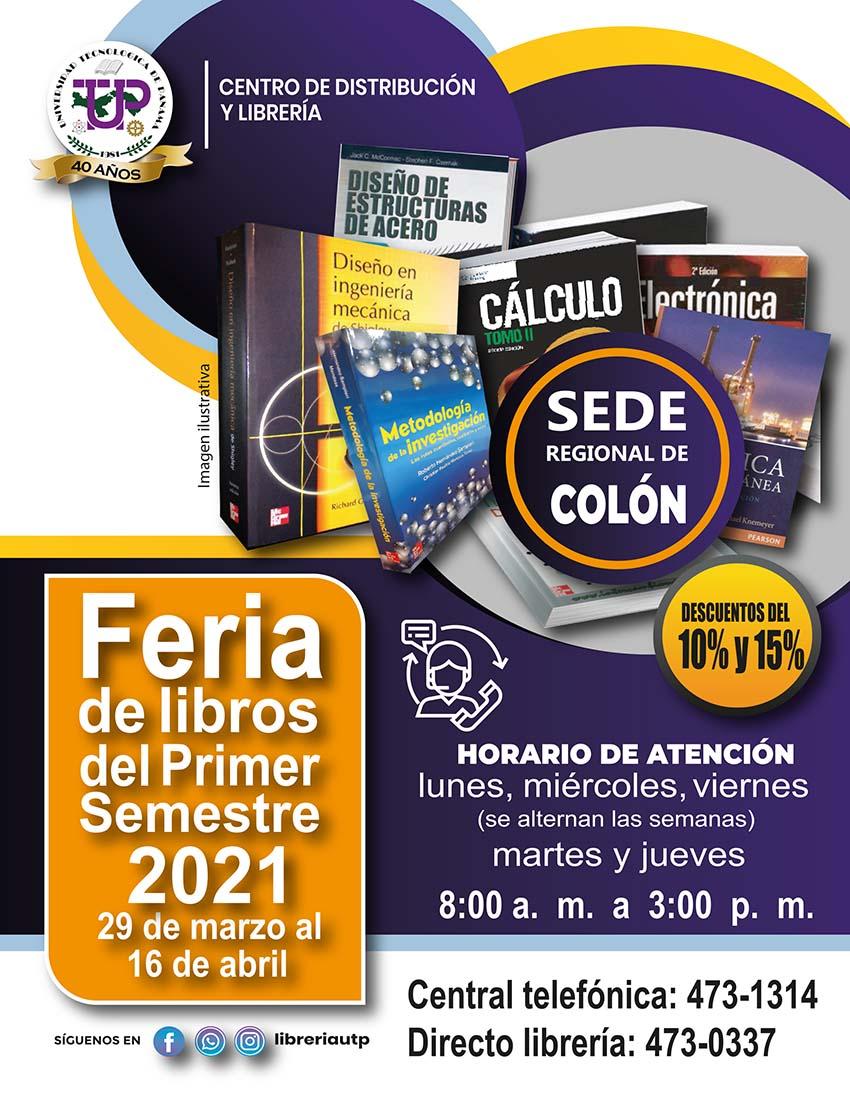Feria de los Libros del Primer Semestre 2021 Colón