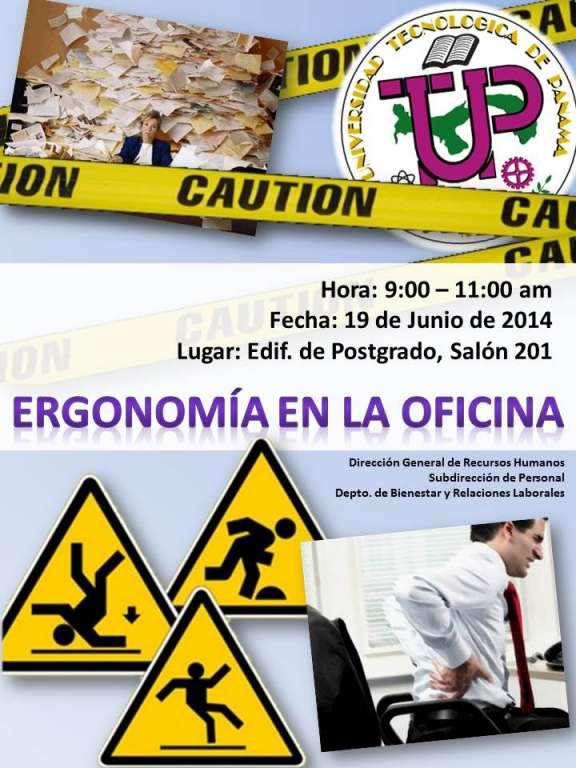 Charla ergonom a en la oficina universidad tecnol gica for Ergonomia en la oficina