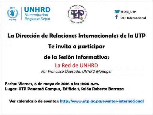 Sesión informativa con United Nations Humanitarian Response Depot (UNHRD)