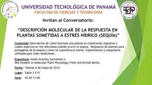 """Conversatorio: """"Descripción molecular de la respuesta en plantas sometidas a est"""