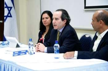 S.E. Gil Artzyeli, Embajador de Israel en Panamá; Ing. Aris Castillo.