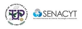 Logo de la Universidad Tecnológica de Panamá y el logo de SENACYT