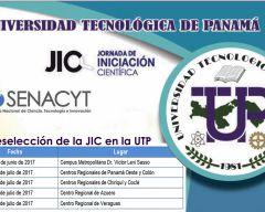 Del 30 de junio al 7 de julio, Jornada de Iniciación Científica (JIC) UTP-2017