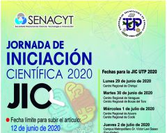 Fechas importantes de la JIC UTP 2020