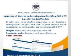 Tercer Ciclo de Conferencias I+D en la UTP