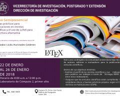 Curso: Buenas prácticas para publicaciones en revistas científicas y el uso de LaTeX para la escritura alternativa