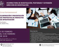 Curso: Elaboración y presentación de propuestas de proyectos de investigación