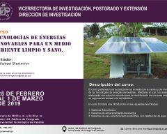Curso: Tecnologías de energías renovables para un medio ambiente limpio y sano