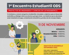 Primer Encuentro Estudiantil ODS: Proyecto de Ingeniería y Ciencias de Latino América