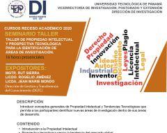 Taller de propiedad intelectual y prospectiva tecnológica para la identificación de áreas de investigación.