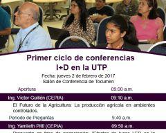 Primer ciclo de conferencias de I+D en la UTP