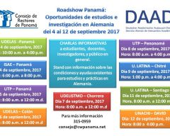 Roadshow Panamá: Oportunidades de estudio e investigación en Alemania
