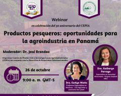Webinar: Productos Pesqueros Oportunidades Para la Agro Industria en Panamá