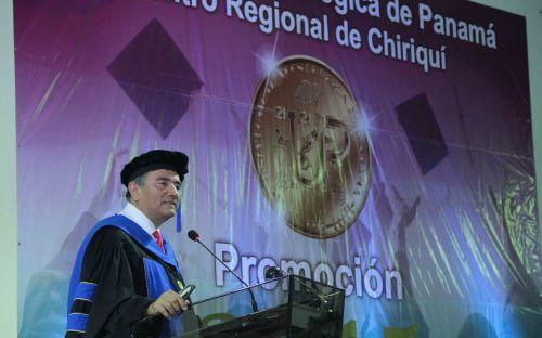Rector de la UTP, Dr. Oscar Ramírez.