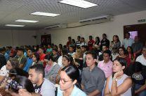 Docentes, Estudiantes, Administrativos e Investigadores participaron del Acto de Bienvenida.