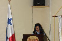Estudiante Mayris Castro, estudiante de noveno grado del Colegio José Octavio Huerta de Pesé.