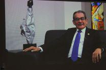 En el Salón de Conferencias se proyectó el Mensaje del Rector Ing. Héctor Montemayor.