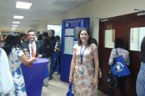 Licda. Luiyiana Pérez,durante el V Congreso de Ingeniería, Ciencias y Tecnología