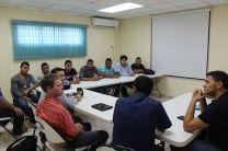 Reunión de organización con el Dr. Rodney Delgado, del Observatorio Astronómico.