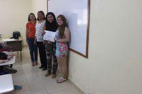 Entrega de Certificados por culminación de Curso de Inglés.