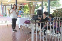 Voluntaria Ana Luisa Gutiérrez, en el Evento Juega Limpio y Recicla.