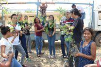 Estudiantes de diversas facultades apoyan el mantenimiento del vivero.