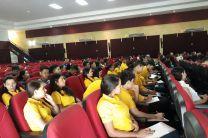 Grupo de Estudiantes de UTP Azuero participando del Simposio: Ciencias en Provincias Centrales.