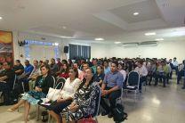 Comunidad universitaria en acto de inauguración de la Jornada de Iniciación Científica en Cocle