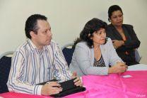 Ing, Ramiro Vargas, decana de la FIM, Mirtha Moore