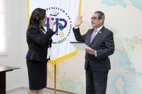 Ing. Vivian Valenzuela, hace un año, en la Ceremonia de Juramentación como Vicerrectora de Vida Universitaria.