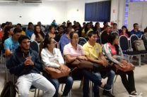 Estudiantes de Mercadeo Internacional asistentes a la videoconferencia.