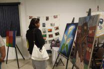 Exposición de obras por estudiantes de la escuela de Bellas Artes de de la UP.