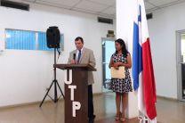 Ing. Francisco Arango dando su discurso de cierre al Proceso Electoral.