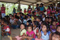 Niños y niñas de Ipetí disfrutaron de esta actividad social.