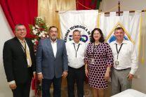 Dr. Israel Ruíz, Ing. Horacio Apolayo, Ing. Miguel López, Mgtr. Aura Jaén e Ing. Francisco Arango.