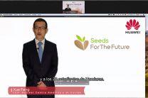 Presentación del Vicepresidente de Asuntos Públicos y Comunicaciones de Huawei Centroamérica y el Caribe, Allen Chen.