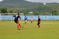 Partido de futbol durante la II Copa rotativa.
