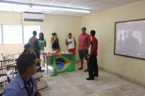 Estudiantes participantes del Curso de Portugués.