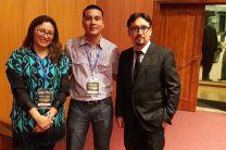 Ing. Paola Ingavelez, Licdo. Agustín Arcia e Ing. Cristian Timbi