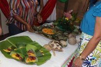 Diversas comidas típicas fueron presentadas durante la exposición.