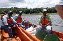 Personal de la ACP, acompañó a los investigadores.