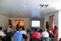 Presentación del informe técnico por Ing. David Vega, del Municipio Pinogana.