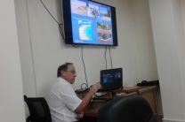 El Dr. Brisset presentando detalles del proyecto PAN1001.