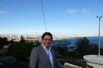 El Dr. Héctor Montes Franceschi, en la Academia Naval de Lisboa.